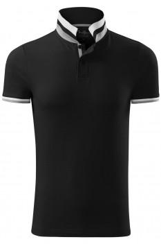 Tricou polo barbati, bumbac 100%, Malfini Premium Collar Up, negru