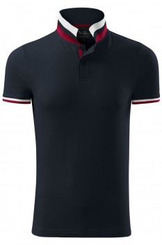 Tricou polo barbati, bumbac 100%, Malfini Premium Collar Up, dark navy