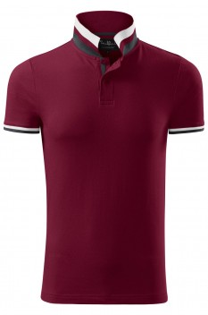 Tricou polo barbati, bumbac 100%, Malfini Premium Collar Up, garnet