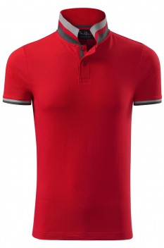 Tricou polo barbati, bumbac 100%, Malfini Premium Collar Up, formula red