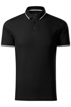 Tricou polo barbati Malfini Premium Perfection Plain, negru