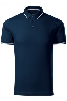 Tricou polo barbati Malfini Premium Perfection Plain, albastru marin
