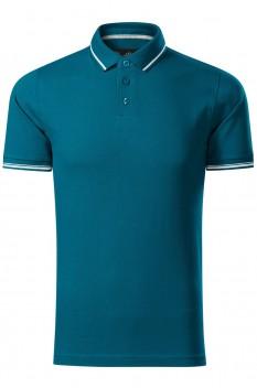 Tricou polo pentru barbati Malfini Premium Perfection Plain, albastru petrol