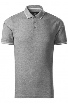 Tricou polo barbati Malfini Premium Perfection Plain, gri inchis